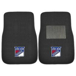 FANMATS 17174 NHL New York Rangers 2-Piece Embroidered Car M