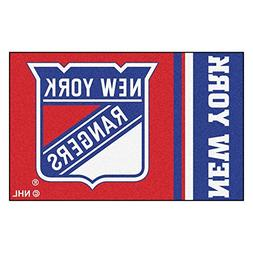 FANMATS 19271 New York Rangers Uniform Starter Rug, Team Col