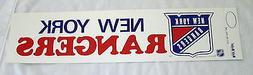 "1970's New York Rangers 4"" X 14"" Bumper Sticker Old School V"