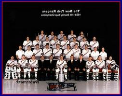 1993 - 94 New York Rangers Stanley Cup Champs Team Photo Col