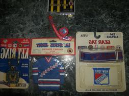 3 new york rangers key chains 1 gear tag/ new