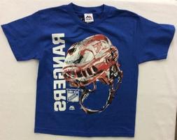 Majestic Boy's New York Rangers Odd Man Rush Helmet Shirt, B