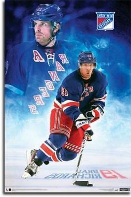 hockey poster brad richards new york rangers