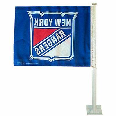 new york rangers car auto window flag