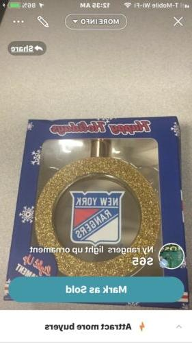 new york rangers hat stanley cup ornament