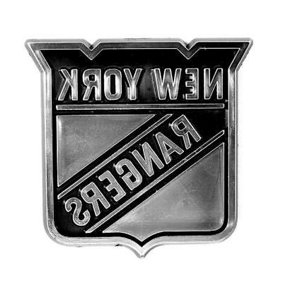 new york rangers silver chrome auto emblem
