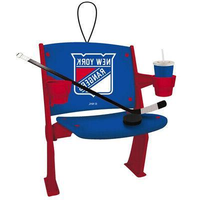 new york rangers stadium chair resin ornament
