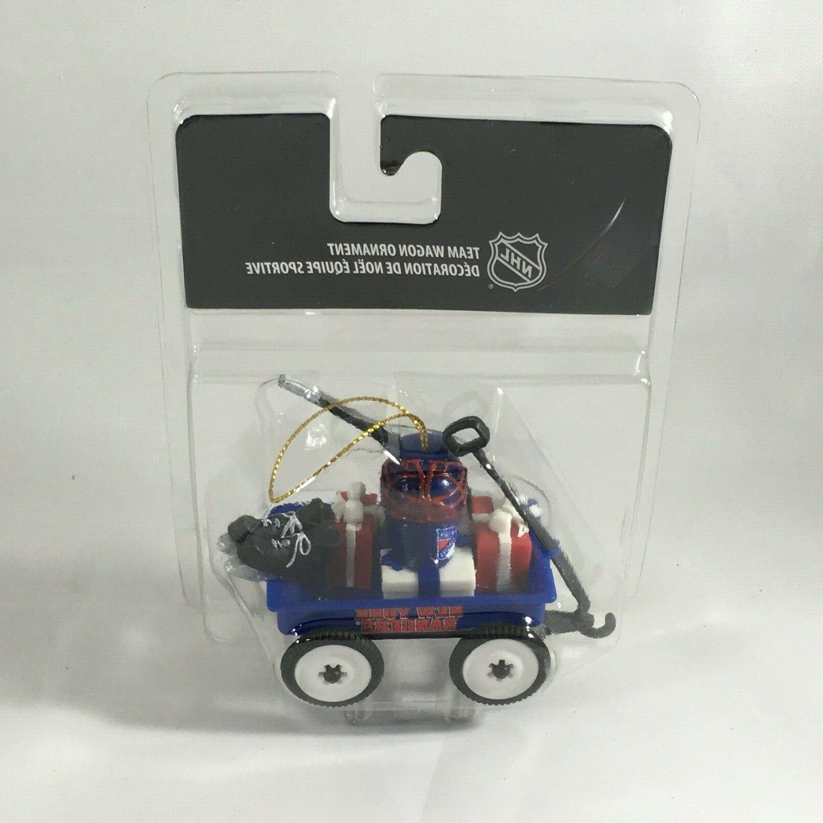 new york rangers team wagon ornament nhl