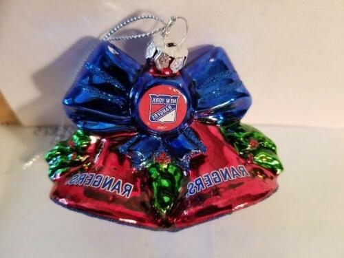 nhl new york rangers glitter bell christmas