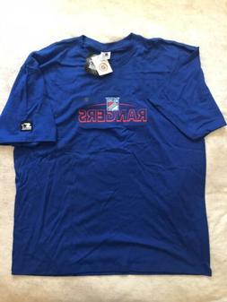Men's VTG Starter NHL New York Rangers Embroidered T Shirt