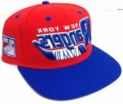 new$28 CCM NEW YORK RANGERS SNAPBACK HAT Blue/Red/White Flat