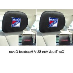 New 2pc NHL New York Rangers Automotive Gear Car Truck Headr