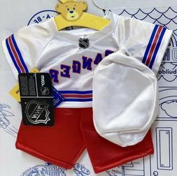 New Build A Bear Hockey NHL Rangers Uniform Costume Set Lot