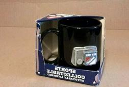 NEW - NEW YORK RANGERS NHL BLACK COFFEE MUG - HANDCRAFTED PE