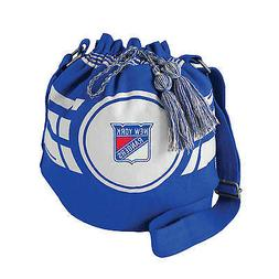 NEW NY YORK RANGERS RIPPLE DRAWSTRING BUCKET BAG PURSE