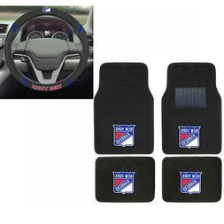New NHL New York Rangers Car Truck Carpet Floor Mats & Steer
