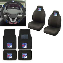New NHL New York Rangers Car Truck Seat Covers Floor Mats St