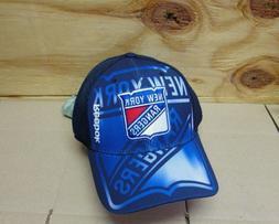 NEW NHL NEW YORK RANGERS  MEN'S  EMBROIDERED REEBOK  ADJUSTA