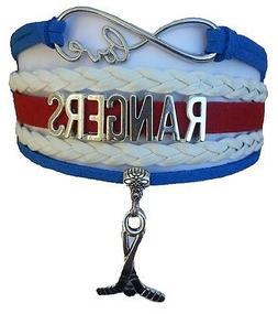 New York NY Rangers Hockey Infinity Bracelet Jewelry Apparel