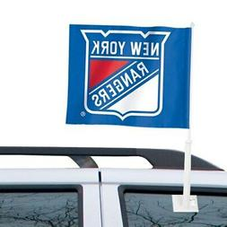 """New York Rangers WinCraft 11"""" x 13"""" Two-Sided Car Flag"""