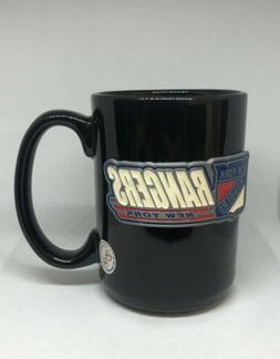 NHL NEW YORK RANGERS 15 Oz. CERAMIC COFFEE MUG NEW BLACK