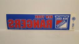 NEW YORK RANGERS #2 Vintage Team Bumper Sticker  Decal Strip