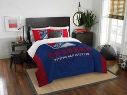 New York Rangers - 3 Pc FULL / QUEEN SIZE Printed Comforter
