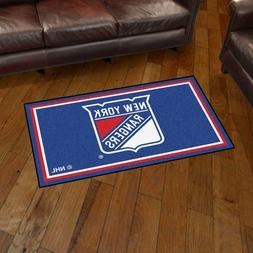 New York Rangers 3' X 5' Decorative Ultra Plush Carpet Area