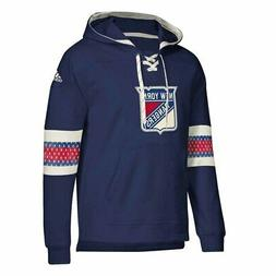 New York Rangers Adult NHL Pull Over Hooded Jersey - Navy