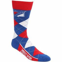New York Rangers For Bare Feet Argyle Crew Socks