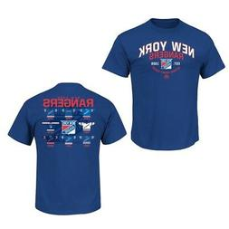 New York Rangers Blue Vintage Jersey History T-Shirt