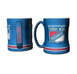 New York Rangers Boelter NHL Relief Coffee Mug 14oz FREE SHI