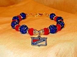 New York Rangers~Bracelet~Jewelry~Logo Charm~Chris Kreider~B