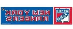 New York Rangers Bumper Sticker NEW!! 3 x 11 Inches Free Shi