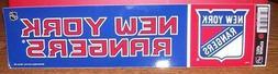NEW YORK RANGERS WINCRAFT BUMPER STRIP STICKER DECAL