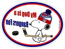 New York Rangers Car Magnet My Dog is a Rangers Fan Hockey A