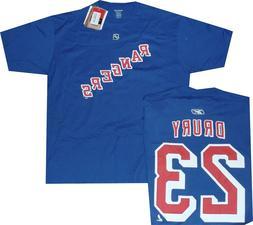 New York Rangers Chris Drury Reebok Blue Net Print Shirt Clo