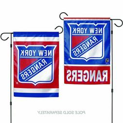 """New York Rangers DOUBLE SIDED 12""""X18"""" GARDEN FLAG BANNER OUT"""