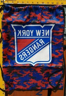 NEW YORK RANGERS DRAWSTRING BAG GYM POUCH BLUE RED NHL HOCKE