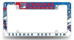 New York Rangers EZ View All Over Chrome Frame Metal License