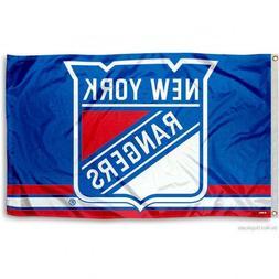 NEW YORK RANGERS FLAG 3'X5' NHL LOGO BANNER: FAST FREE SHIPP