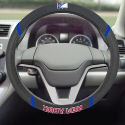 New York Rangers FM Premium Embroidered Black Auto Steering