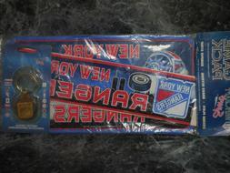 new york rangers game pack license plate/brass keyring/bumpe