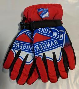 New York Rangers Gloves Big Logo Gradient Insulated Winter N