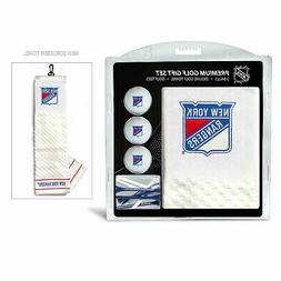 New York Rangers Golf Towel Set with Golf Balls and Tees