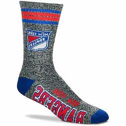 New York Rangers For Bare Feet Got Marble Crew Socks - Gray
