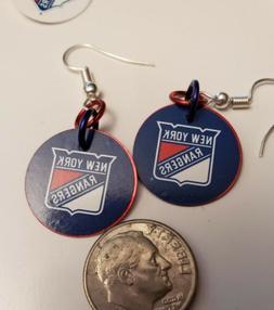 New York Rangers handmade earrings. 1PAIR YOU PICK