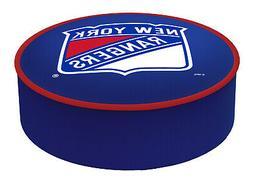 New York Rangers HBS Blue Vinyl Elastic Slip Over Bar Stool
