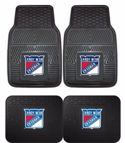 New York Rangers Heavy Duty NHL Floor Mats 2 & 4 pc Sets for
