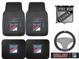 New York Rangers 2-pc Heavy Duty Vinyl Car Mat Set